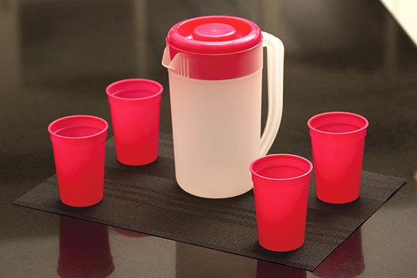 Set de Jarra con 4 vasos